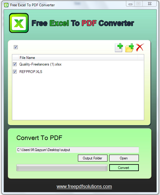 Free Excel to Pdf Converter