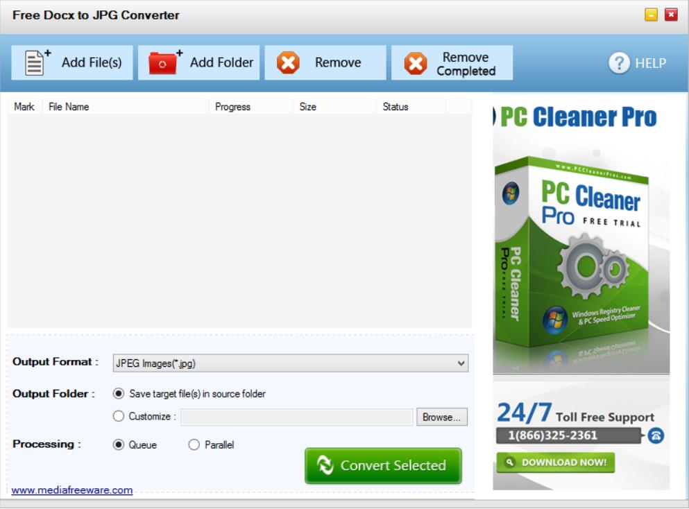 Free Docx to JPG Converter
