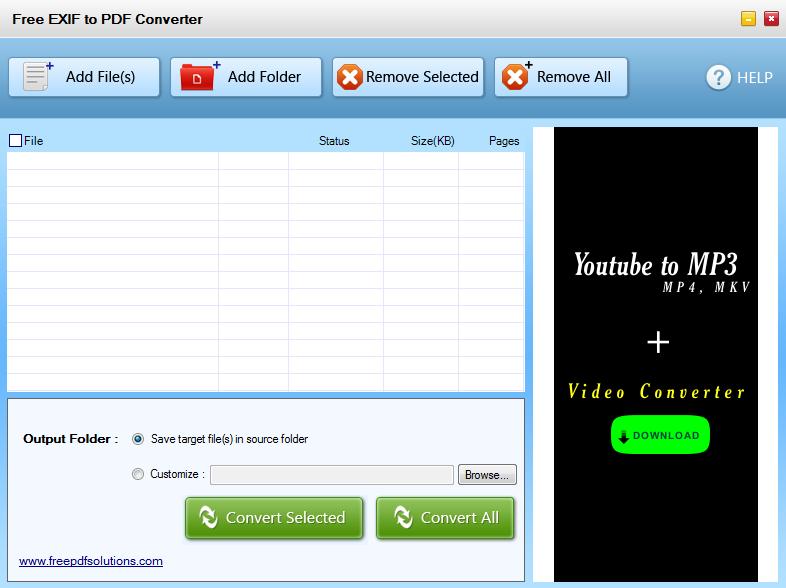 Free EXIF to PDF Converter