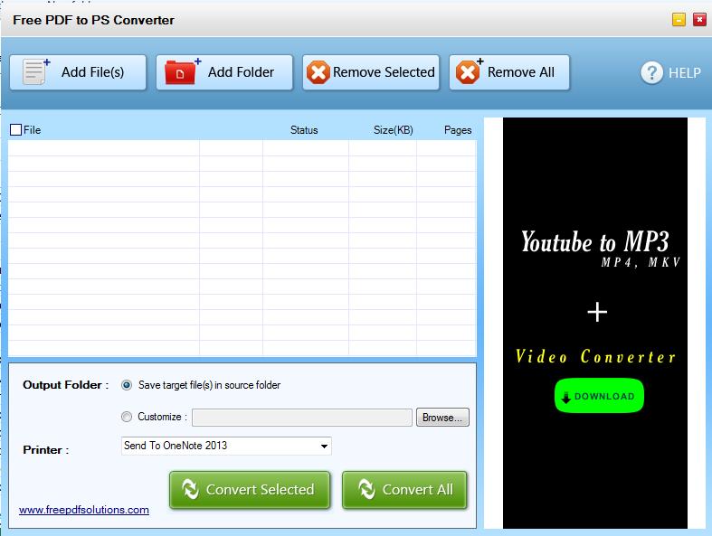 Free PDF to PS Converter