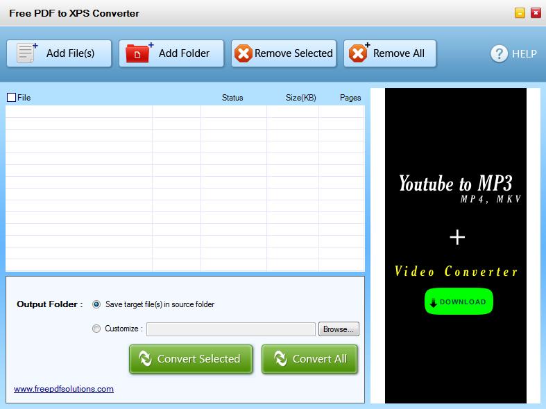 Free PDF to XPS Converter